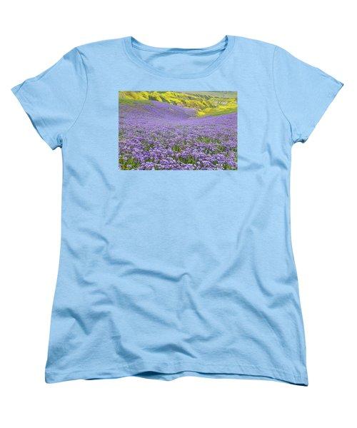 Purple  Covered Hillside Women's T-Shirt (Standard Cut) by Marc Crumpler