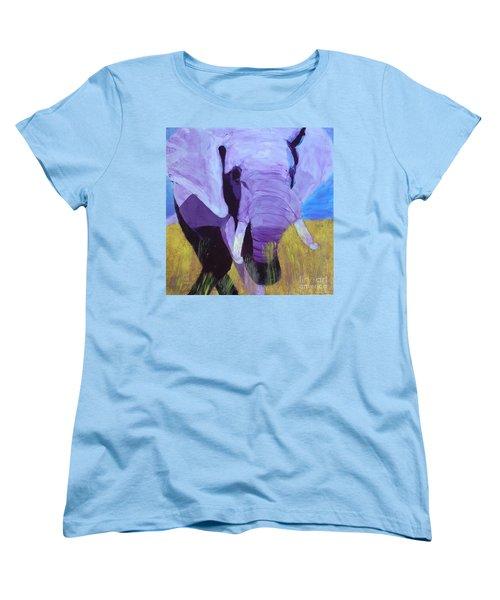 Purple Elephant Women's T-Shirt (Standard Cut) by Donald J Ryker III