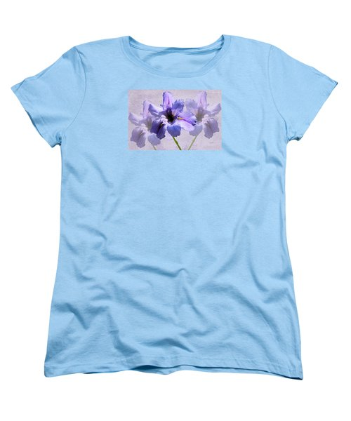 Purple Irises Women's T-Shirt (Standard Cut) by Rosalie Scanlon