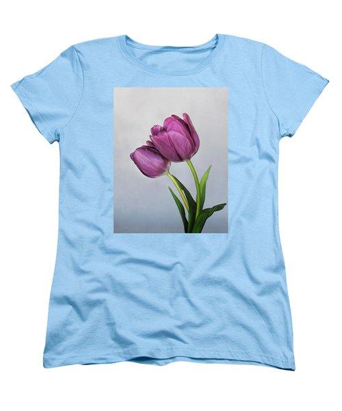 Purple Majesty Women's T-Shirt (Standard Cut) by David and Carol Kelly
