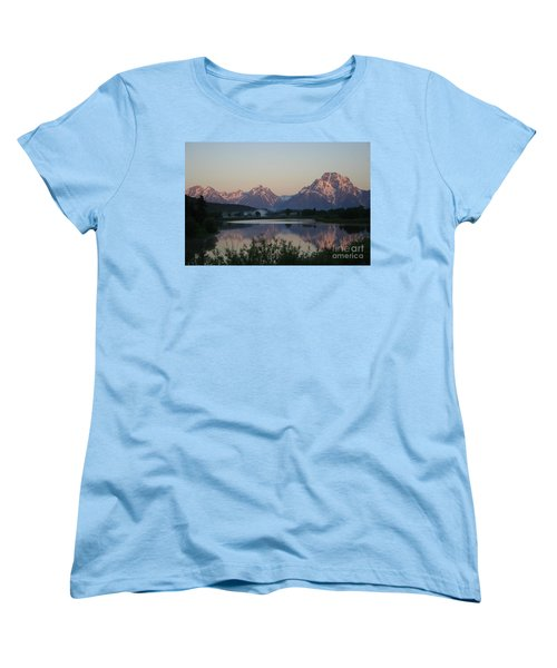 Women's T-Shirt (Standard Cut) featuring the photograph Purple Mountain Majesty  by Paula Guttilla