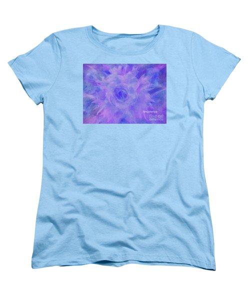 Purple Passion By Sherriofpalmspringsflower Art-digital Painting  Photography Enhancements Tradition Women's T-Shirt (Standard Cut) by Sherri's Of Palm Springs