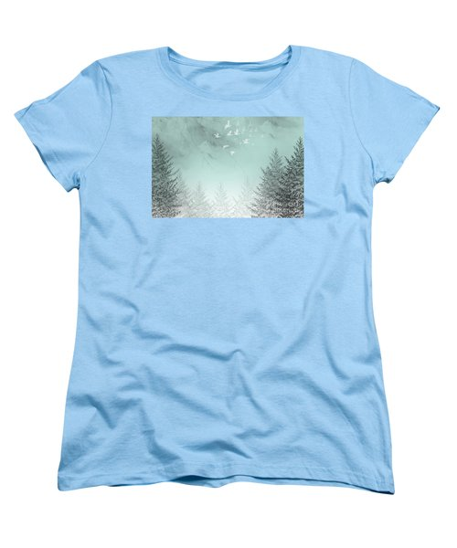 Women's T-Shirt (Standard Cut) featuring the painting Purpose Driven by Trilby Cole