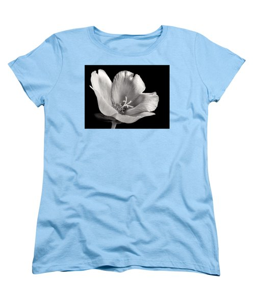 Women's T-Shirt (Standard Cut) featuring the photograph Purslane In Monochrome by David and Carol Kelly