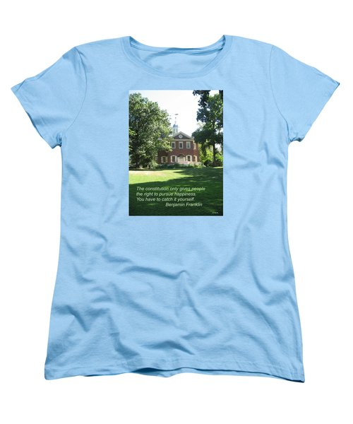 Pursuit Of Happiness Women's T-Shirt (Standard Cut) by Deborah Dendler