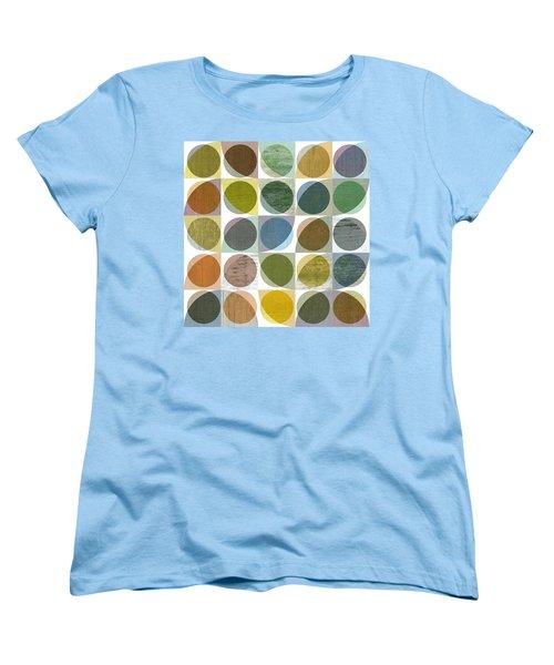 Women's T-Shirt (Standard Cut) featuring the digital art Quarter Circles Layer Project Three by Michelle Calkins