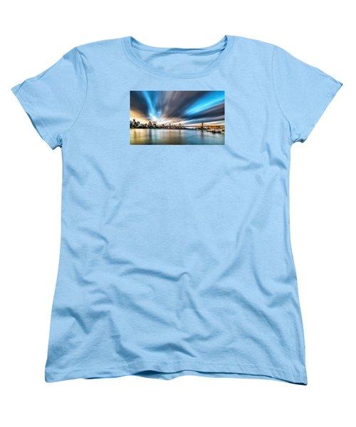 Queensboro Bridge Women's T-Shirt (Standard Cut) by Rafael Quirindongo