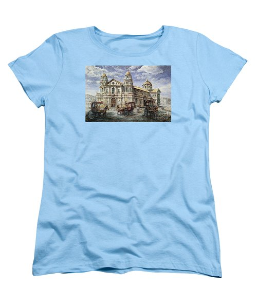 Quiapo Church 1900s Women's T-Shirt (Standard Cut) by Joey Agbayani