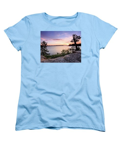 Women's T-Shirt (Standard Cut) featuring the photograph Quiet Waters Crop by Jennifer Casey
