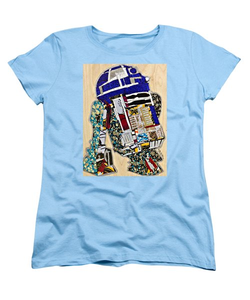 R2-d2 Star Wars Afrofuturist Collection Women's T-Shirt (Standard Cut) by Apanaki Temitayo M