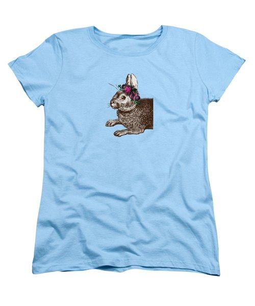 Rabbit And Roses Women's T-Shirt (Standard Cut)
