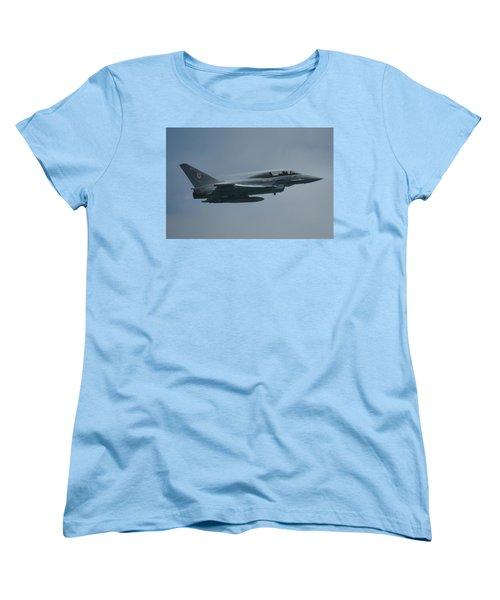 Women's T-Shirt (Standard Cut) featuring the photograph Raf Eurofighter Typhoon T1  by Tim Beach