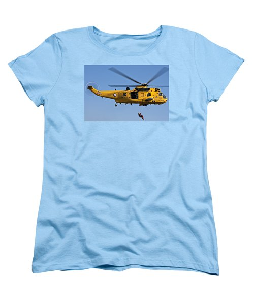 Raf Sea King Search And Rescue Helicopter 2 Women's T-Shirt (Standard Cut) by Steve Purnell