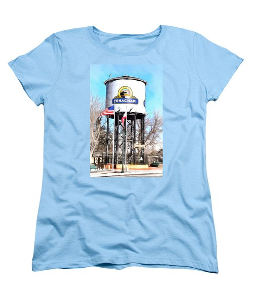 Women's T-Shirt (Standard Cut) featuring the photograph Railroad Park Tehachapi California by Floyd Snyder