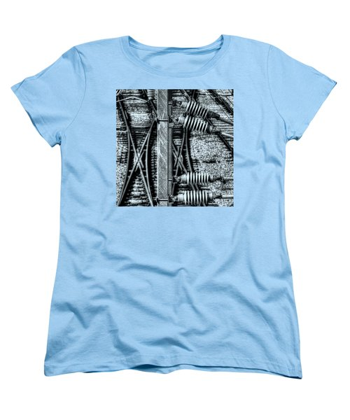 Women's T-Shirt (Standard Cut) featuring the photograph Railway Detail by Wayne Sherriff