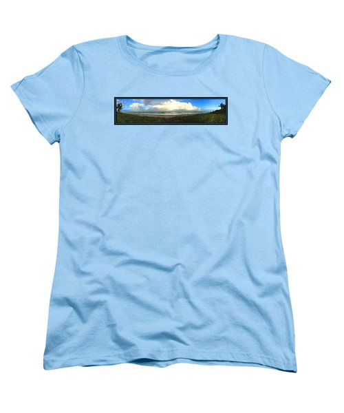 Rain And A Bow Women's T-Shirt (Standard Cut) by Steven Lebron Langston