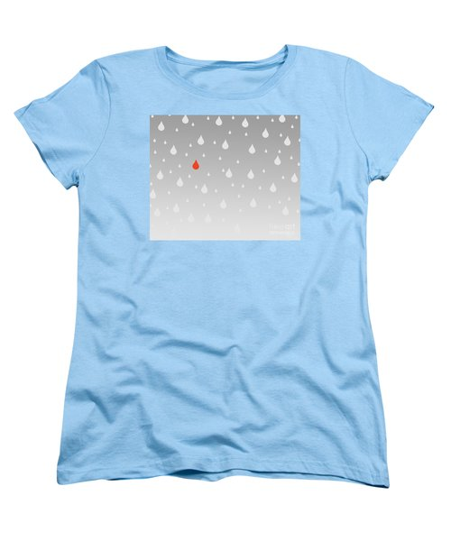 Women's T-Shirt (Standard Cut) featuring the painting Rain And Tears by Trilby Cole