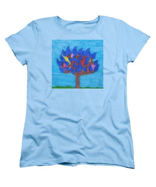 Rain Beauty Tree Women's T-Shirt (Standard Cut)