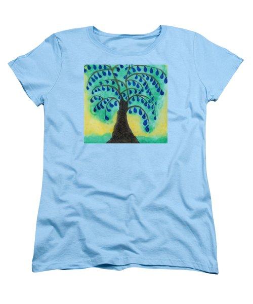 Rain Drop Umbrella Tree Women's T-Shirt (Standard Cut)