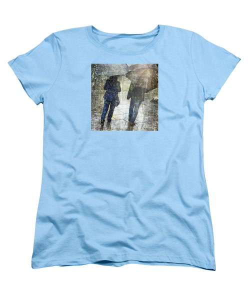 Rain Through The Fountain Women's T-Shirt (Standard Cut) by LemonArt Photography
