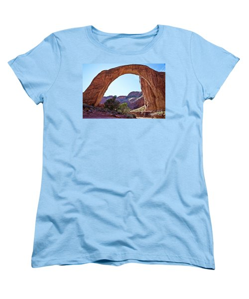 Rainbow Bridge Women's T-Shirt (Standard Cut) by Kathy McClure