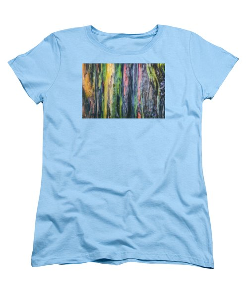 Women's T-Shirt (Standard Cut) featuring the photograph Rainbow Forest by Ryan Manuel