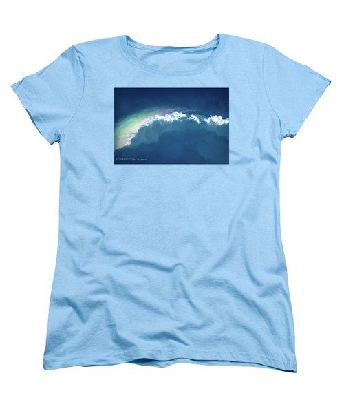 Rainbow Peeking Women's T-Shirt (Standard Cut)
