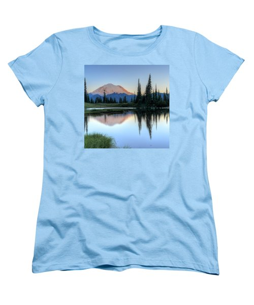 Rainier From Tipsoo Women's T-Shirt (Standard Cut) by Peter Mooyman