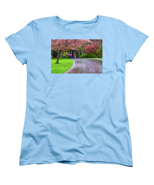 Rainy Day In The Park Women's T-Shirt (Standard Cut) by Keith Boone