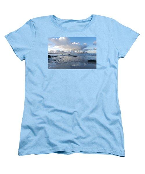 Ramberg Beach, Lofoten Nordland Women's T-Shirt (Standard Cut) by Dubi Roman