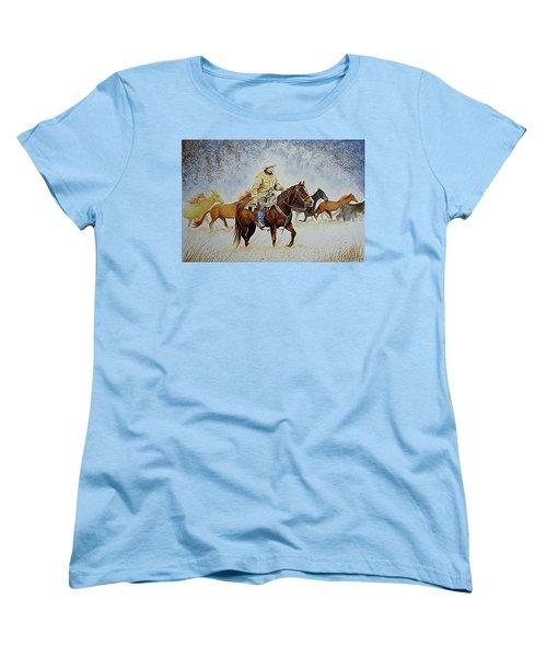 Ranch Rider Women's T-Shirt (Standard Cut) by Jimmy Smith