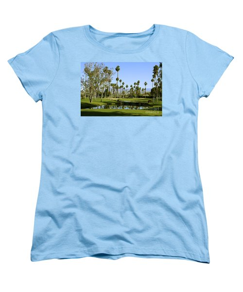 Rancho Mirage Golf Course Women's T-Shirt (Standard Cut) by Nina Prommer