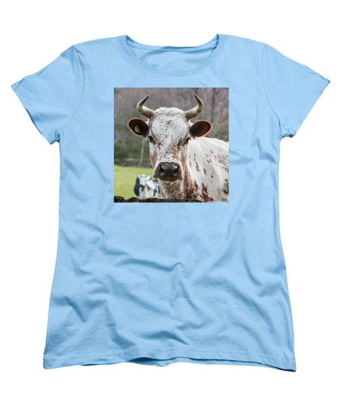 Women's T-Shirt (Standard Cut) featuring the photograph Randall Cow by Bill Wakeley