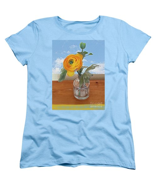 Women's T-Shirt (Standard Cut) featuring the digital art Ranunculus Spring by Alexis Rotella