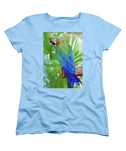 Rapsody In Blue Women's T-Shirt (Standard Cut) by Larry Nieland