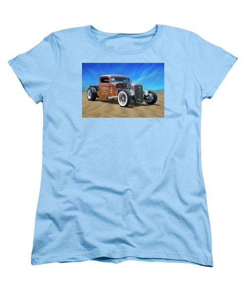 Women's T-Shirt (Standard Cut) featuring the photograph Rat Truck On The Beach by Mike McGlothlen