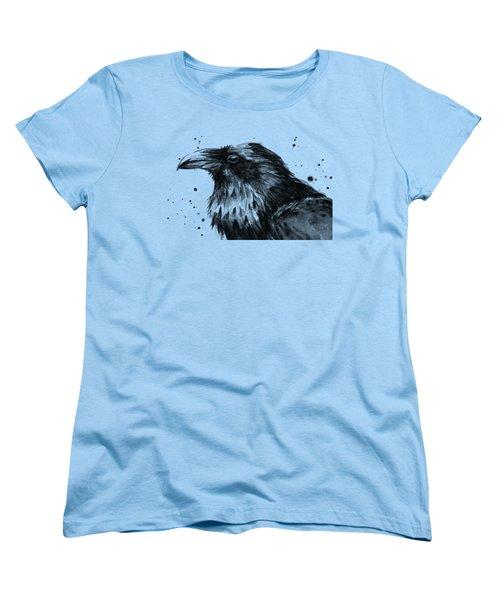 Raven Watercolor Portrait Women's T-Shirt (Standard Fit)