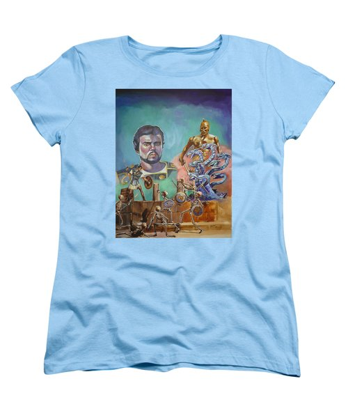 Ray Harryhausen Tribute Jason And The Argonauts Women's T-Shirt (Standard Cut) by Bryan Bustard