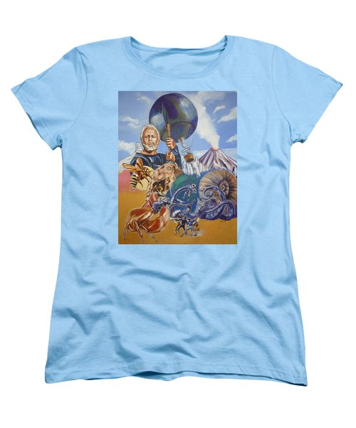 Ray Harryhausen Tribute The Mysterious Island Women's T-Shirt (Standard Cut) by Bryan Bustard
