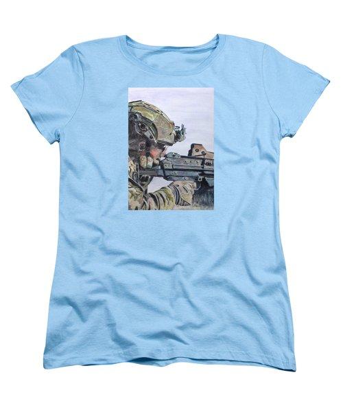 Ready Women's T-Shirt (Standard Cut) by Stan Tenney