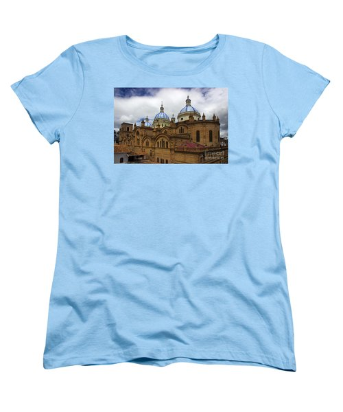 Rear Corner View Of Immaculate Conception Cathedral Women's T-Shirt (Standard Cut) by Al Bourassa