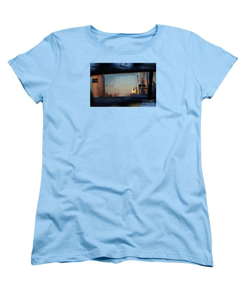 Women's T-Shirt (Standard Cut) featuring the digital art Rear View 2 - The Places I Have Been by David Blank