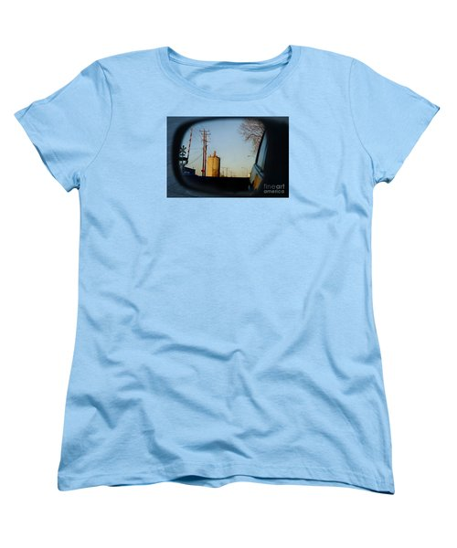 Women's T-Shirt (Standard Cut) featuring the digital art Rear View - The Places I Have Been by David Blank