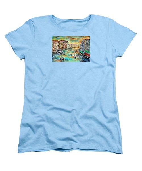 Women's T-Shirt (Standard Cut) featuring the painting Recalling Venice by Alfred Motzer