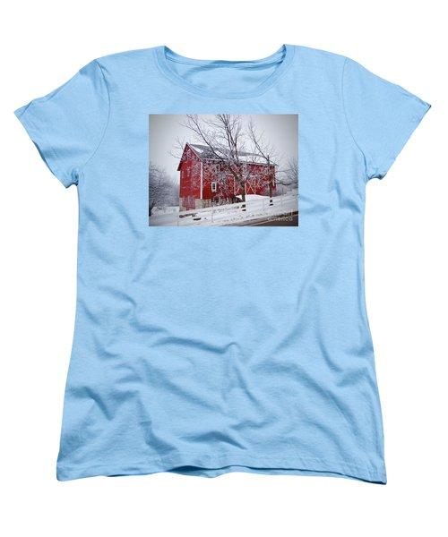 Red Barn Circa 1876 Women's T-Shirt (Standard Cut) by Sue Stefanowicz