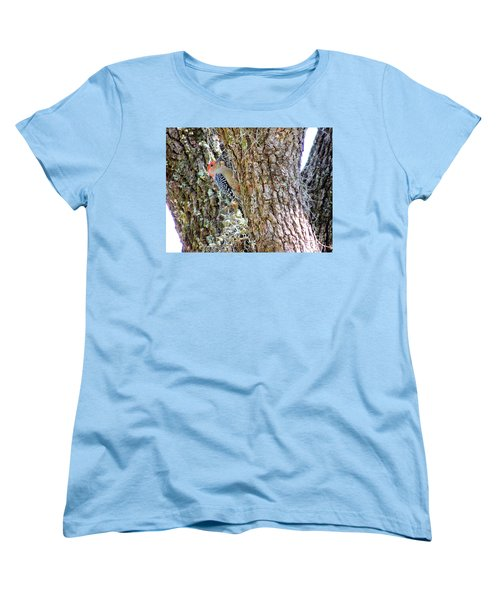 Women's T-Shirt (Standard Cut) featuring the photograph Red-bellied Woodpecker By Bill Holkham by Bill Holkham