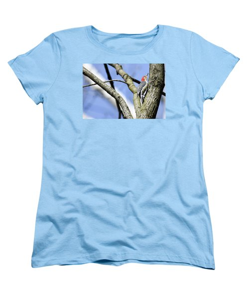 Red-bellied Woodpecker Women's T-Shirt (Standard Cut) by Gary Wightman