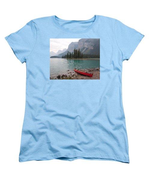 Red Canoe Women's T-Shirt (Standard Cut) by Catherine Alfidi