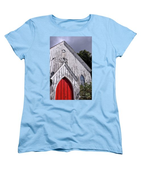 Red Door Women's T-Shirt (Standard Cut) by Gina Savage