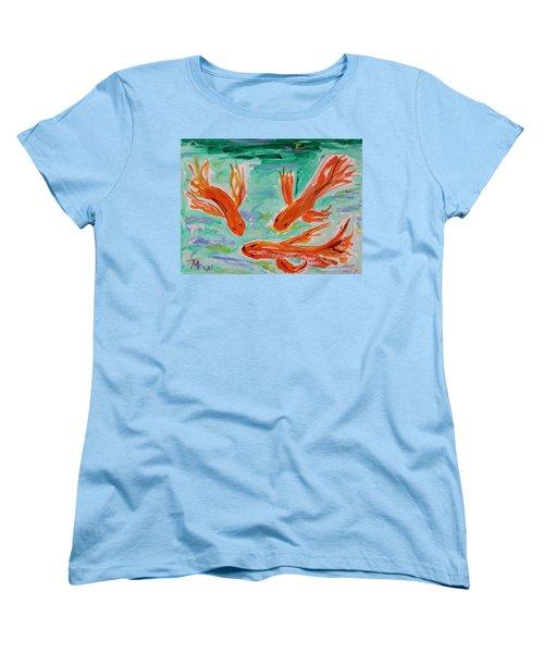 Red Eye Koi Women's T-Shirt (Standard Cut) by Mary Carol Williams